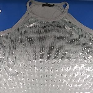 Limited sequin grey top XL